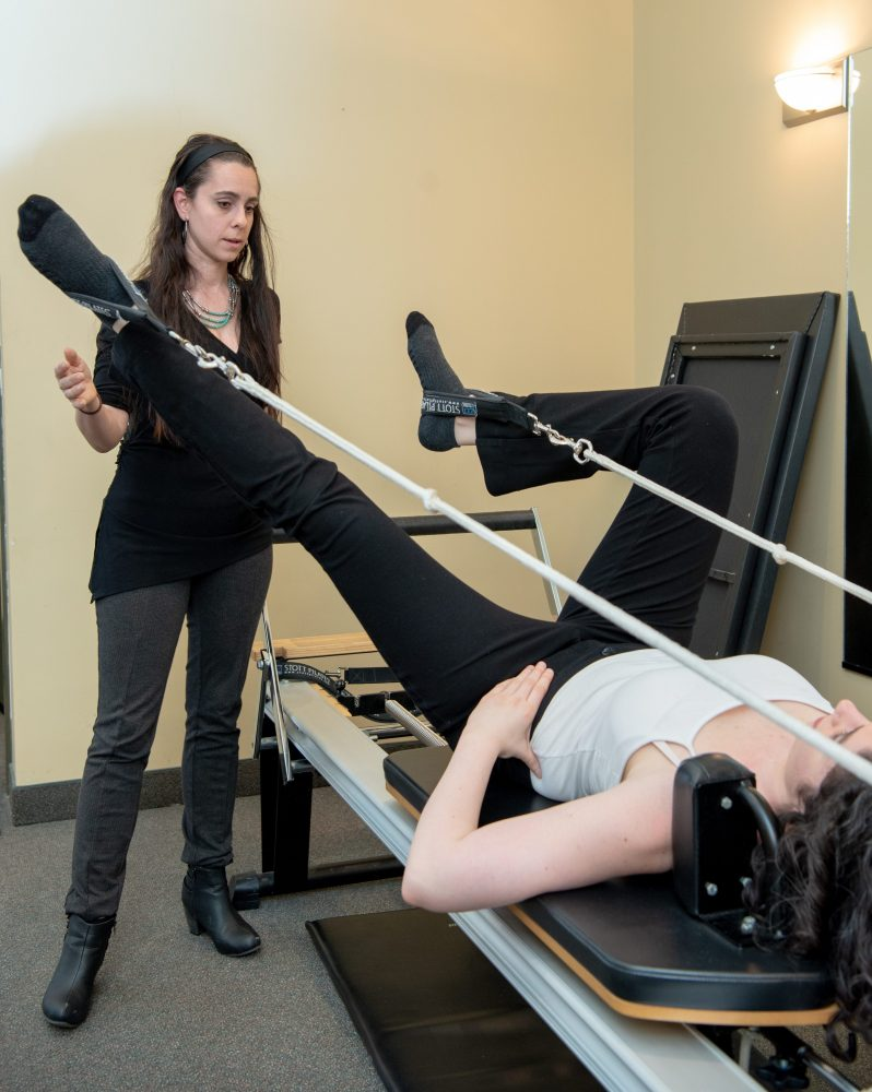 Pilates therapy session